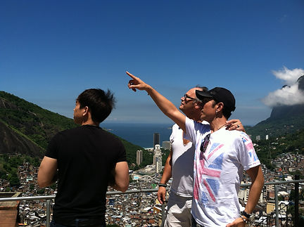 Ayala directing and consulting superstar Cyril Takayama for TV-Series in Rio de Janeiro