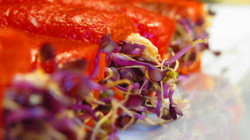 bell pepper fillets beetroot sprout