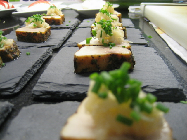 Swordfish belly Tataki with Ginger