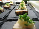 Tapas of swordfish belly Tataki with Ginger