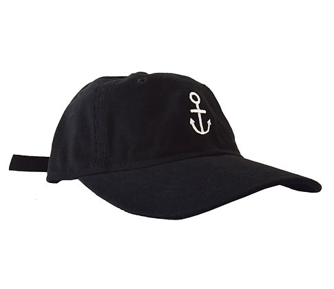 Anchor Dad Cap Black