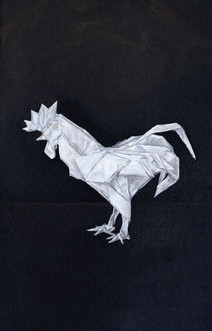 Origami Rooster Still Life