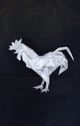 Origami Rooster Still Life