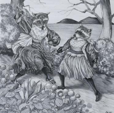 Sword Fighting Raccoons