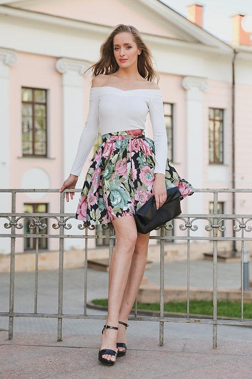 Хлопковая юбка мини