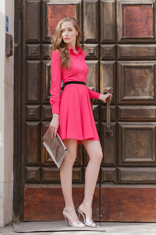 Платье-рубашка мини