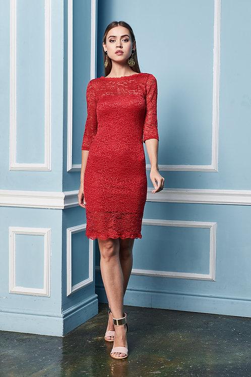Кружевное платье футляр