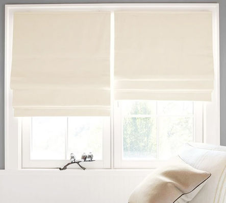Custom Natural Roman Shades