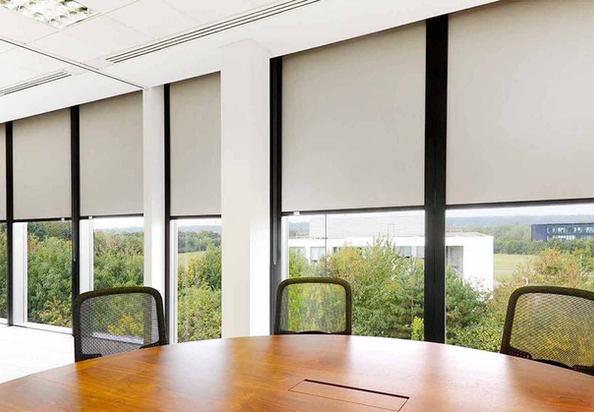 Custom Commercial Room Darkening Blinds