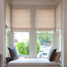 Custom Natural Roman Shades for Home