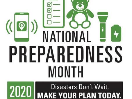 Tech Talk: September is National Preparedness Month