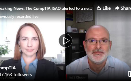 Breaking News from the CompTIA ISAO