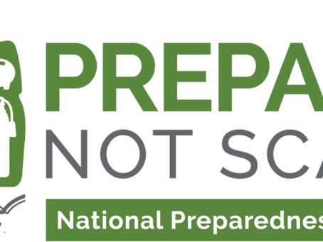 September is National Preparedness Month #PreparedNotScared