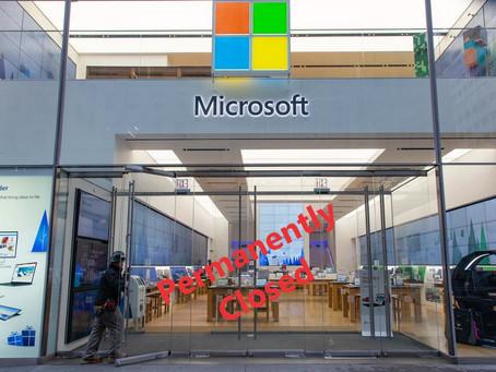 Goodbye Microsoft Retail Store