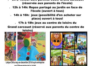 Café des parents au grand Carcouët : second temps
