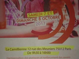 animation au  séminaire national des formateurs Bafa/Bafd à Paris 7 octobre 2017