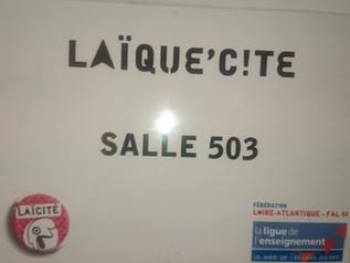 """11 ème rencontre des délégués élèves avec la Ligue de l'enseignement 44 à Nantes """"La Laïcit"""
