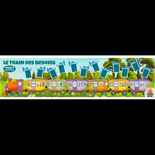 6-8 ans LE TRAIN DES BESOINS - JEU GÉANT