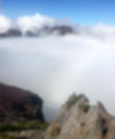 We touched the clouds today at Pico do A