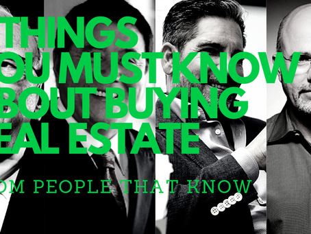 4 Things you must know about buying / selling property from 4 people that would know.