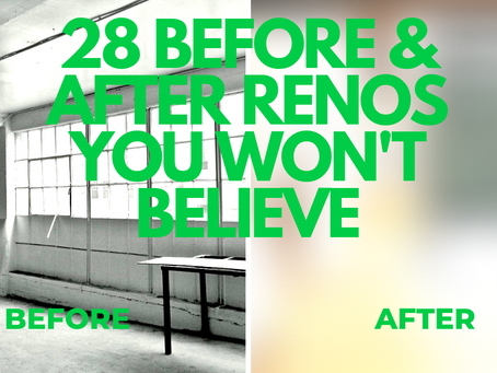 We couldn't believe these 28 before and after renovations!