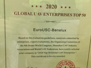 EuroUSC-Benelux elected top 50 Global Drone Company!