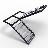 металлическая лестница с поворотом180