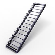 металлическая лестница с примым маршем