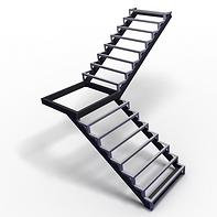 металлическая лестница с поворотом 90