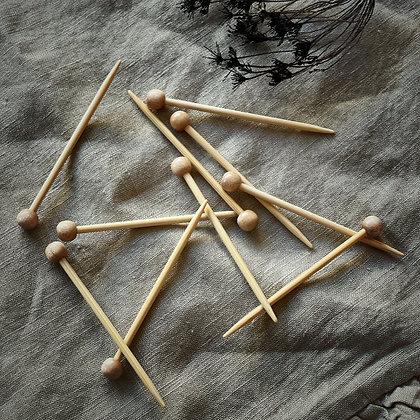 SeeKnit knappenåler i bambus (10stk)