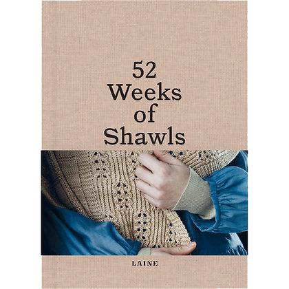 Forhåndsbestilling: 52 Weeks of Shawls (Laine Publishing)