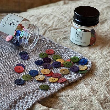 Perlemorknapper farger 10mm (50 stk)
