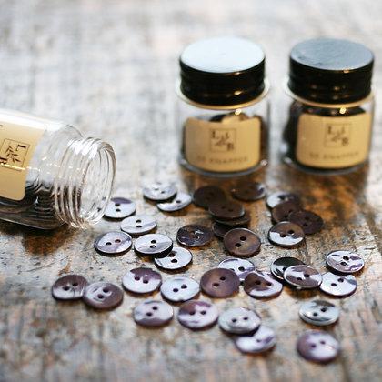 Perlemorknapper mørk 12mm (50 stk)