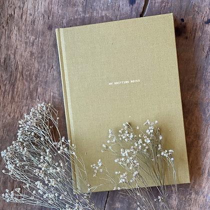My Knitting Notes Mustard (Laine Publishing)