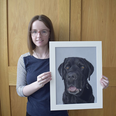Labrador Pastel Pet Portrait- With pet p
