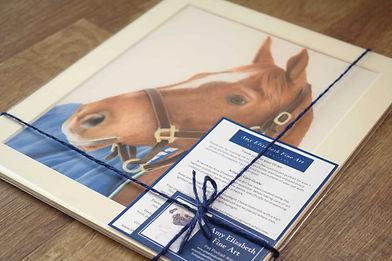 Horse Portrait in Pastels