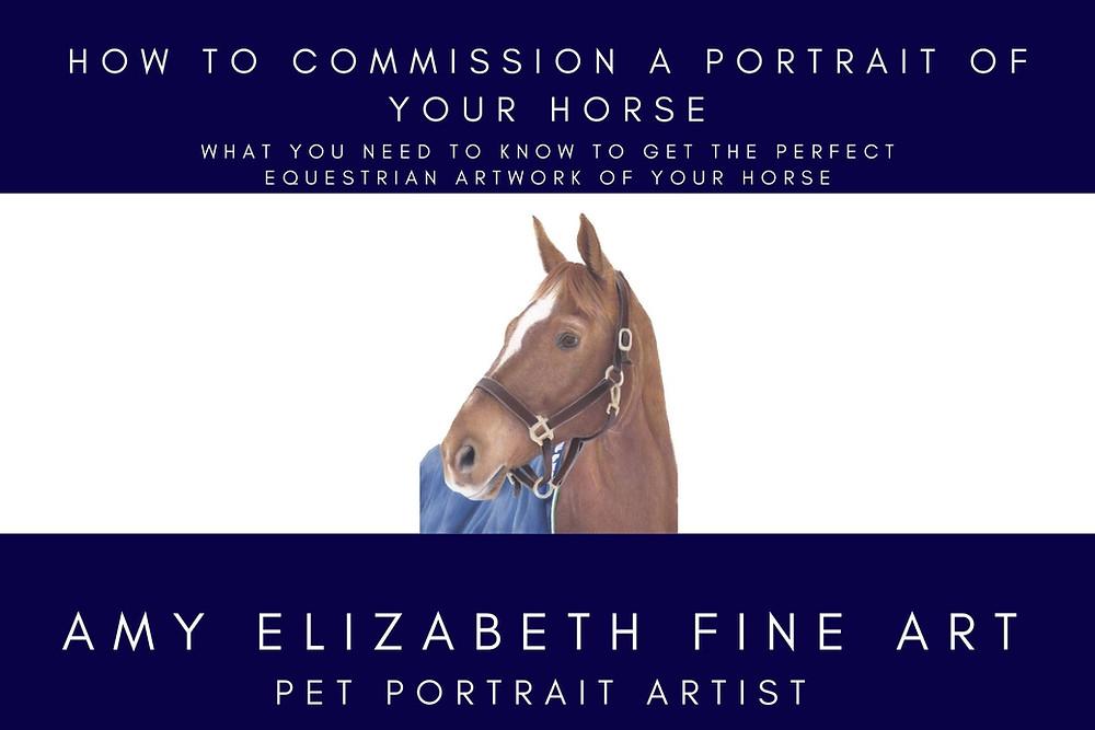 A horse portrait in Pastels