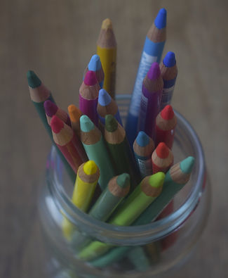 Coloured Pastel Pencils in a Jar for creating a Pastel Pencil Pet Portrait from Photos UK
