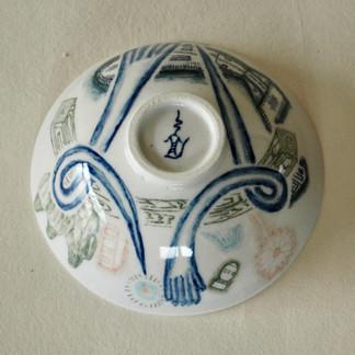 釉下彩飯碗