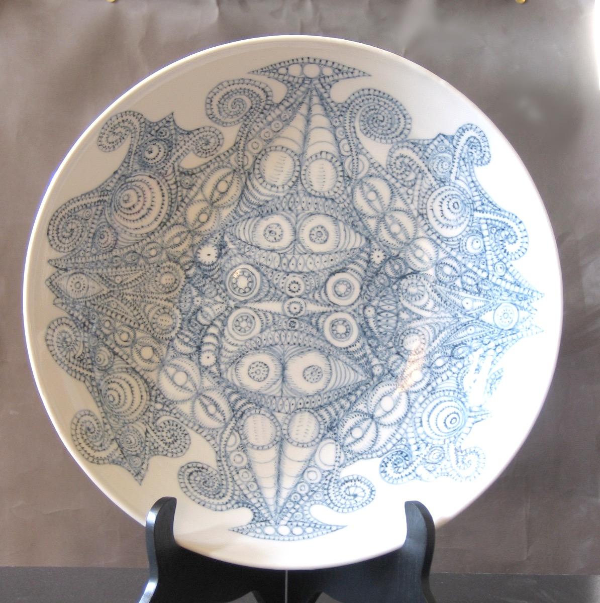 染付大皿 Blue China