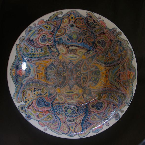 釉下彩大皿「愛の大 」