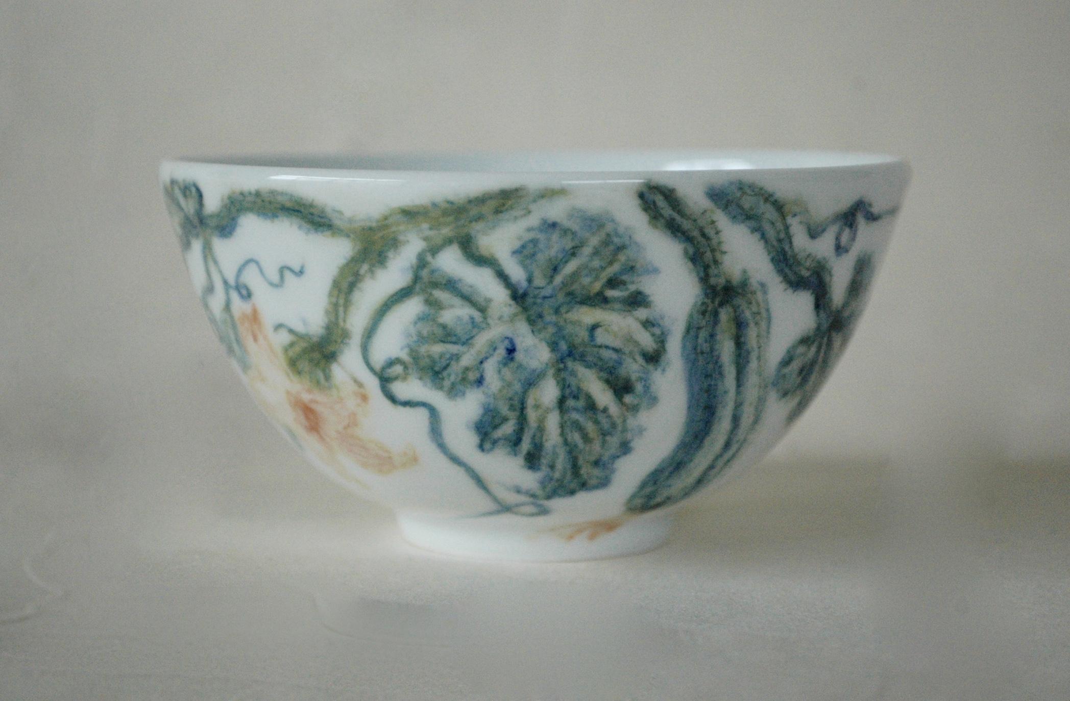 胡瓜の釉下彩碗