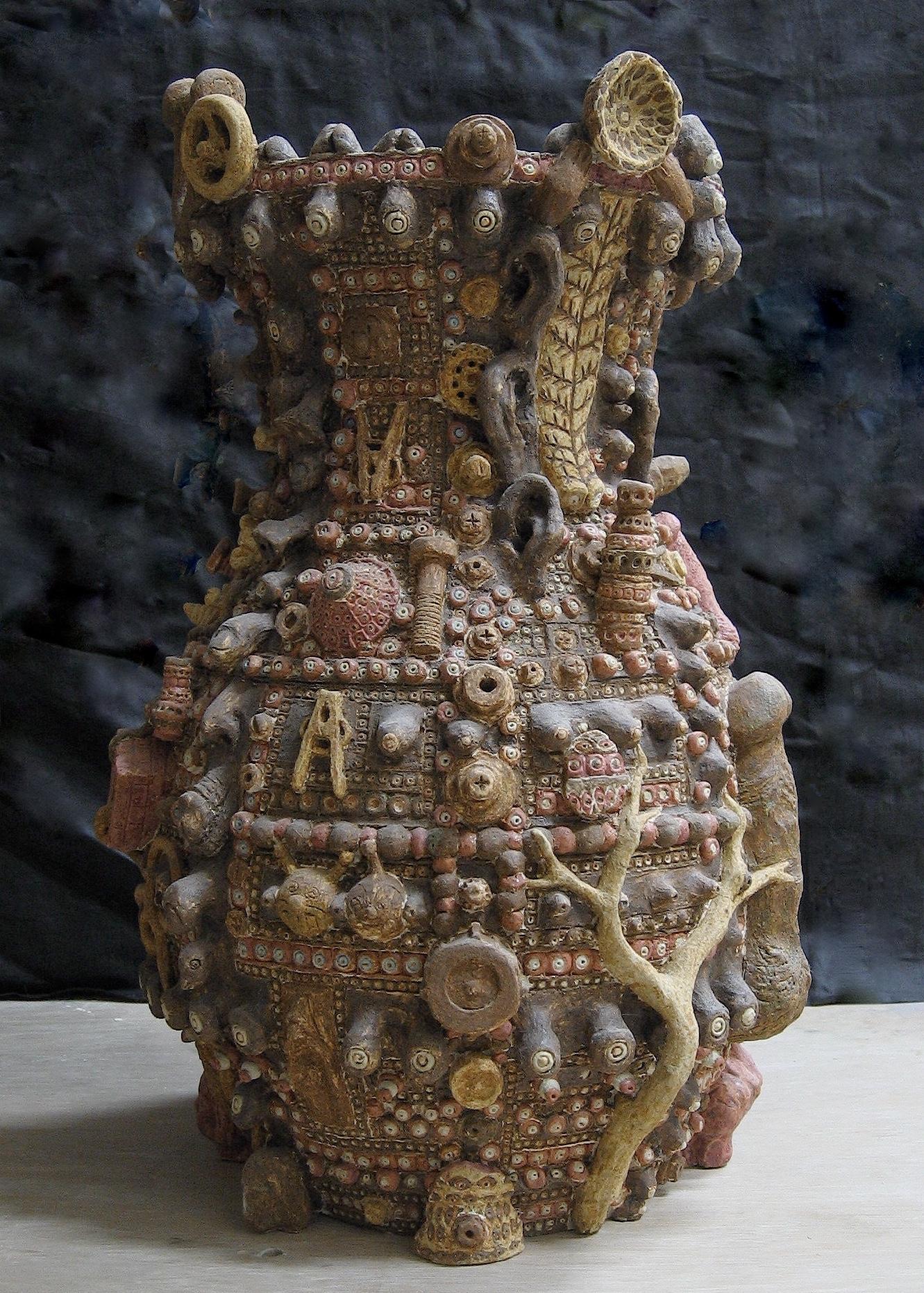 「世界のツボ」色伊羅保大壺