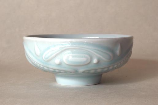 青白磁茶碗