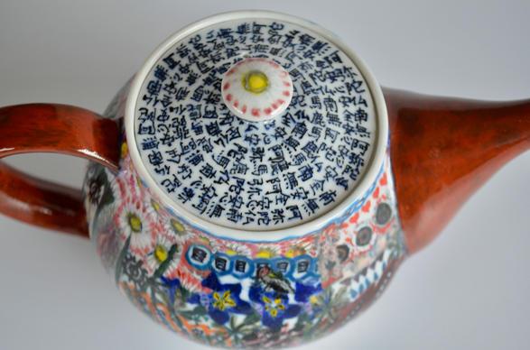 色急須「安全安心」China painting teapot [Safe and secure]