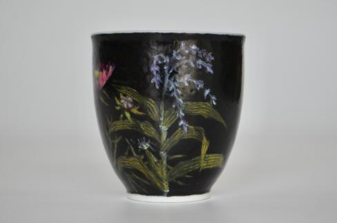 花々のマグカップ
