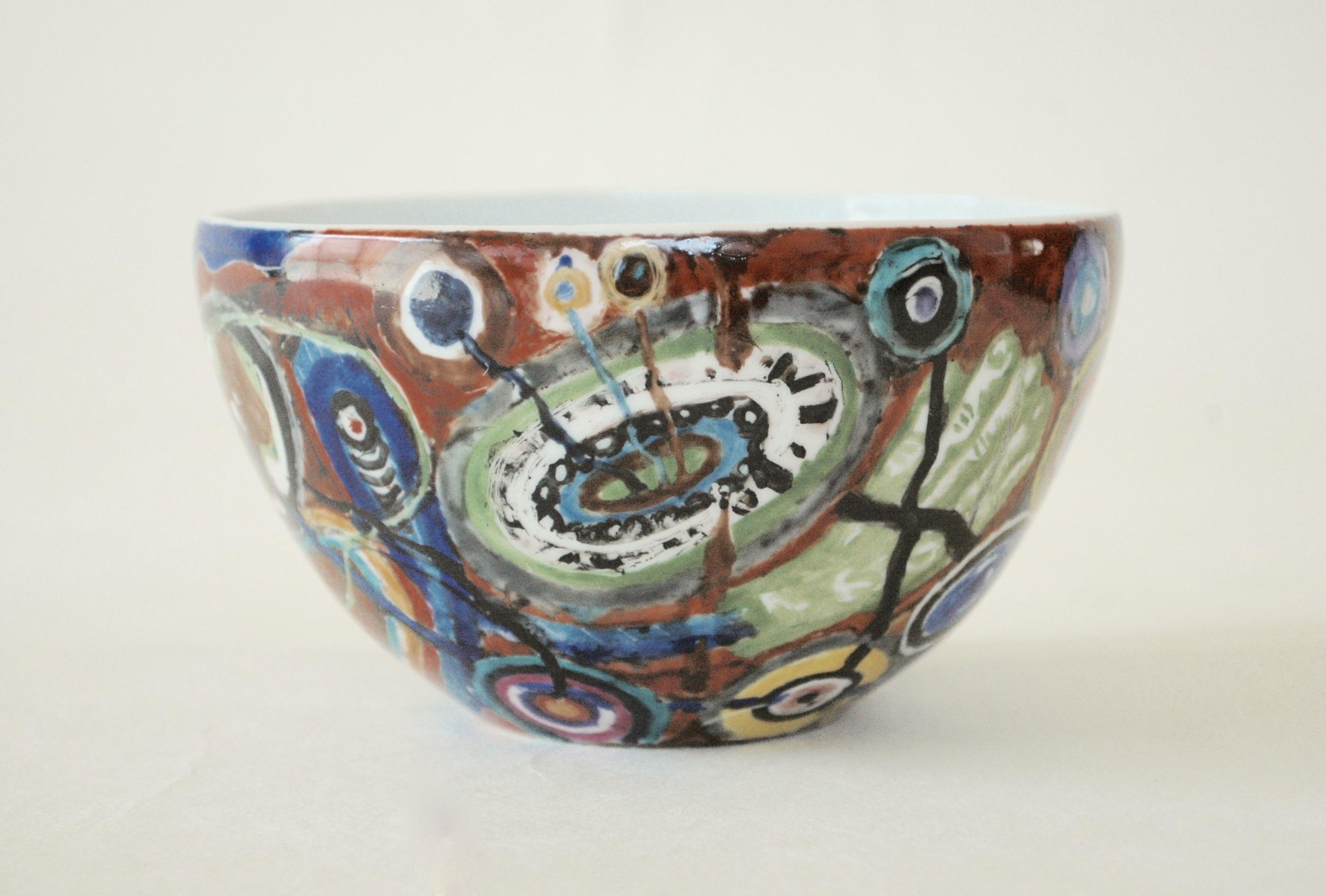 色絵鉢「魑魅」Color Pots