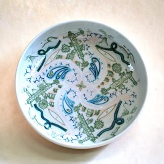 釉下彩銅鑼鉢