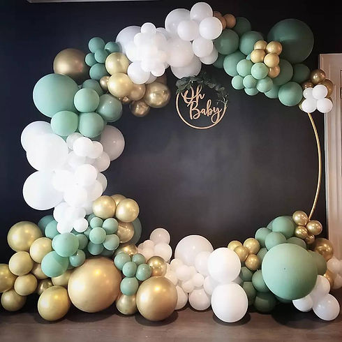 Baby Shower balloon Arch Oh Baby by yellow SHoes Event  Rentals