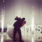 MR and MRS Big Light Marquee Letters_ Cold Sparklers_ First Dance_ Wedding Decorations_Chi